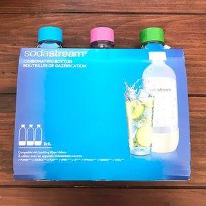 NIB Soda Stream 1 Liter Bottles 3 Pack